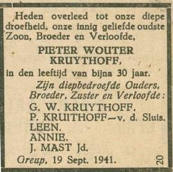 rouwadvertentie-pieter-kruijthoff